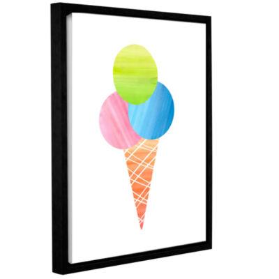 Brushstone 3 Scoops Gallery Wrapped Floater-FramedCanvas