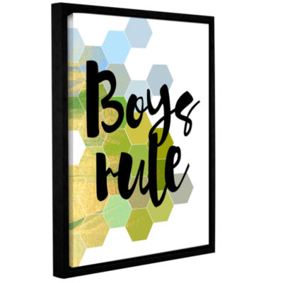 Brushstone Boys Rule Gallery Wrapped Floater-Framed Canvas