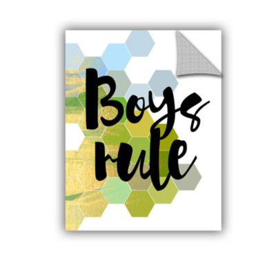 Brushstone Boys Rule Removable Wall Decal