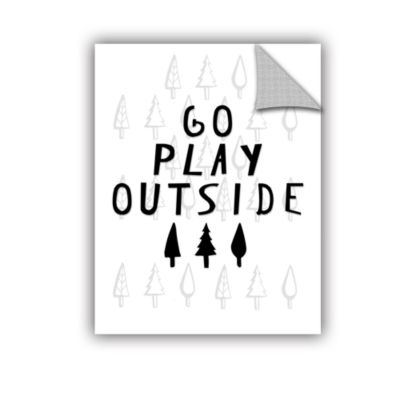 Brushstone Go Play Outside Black And White Removable Wall Decal