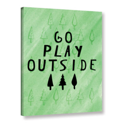 Brushstone Go Play Outside Gallery Wrapped Canvas