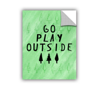 Brushstone Go Play Outside Removable Wall Decal