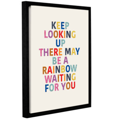 Brushstone Rainbow Waiting For You 3 Gallery Wrapped Floater-Framed Canvas
