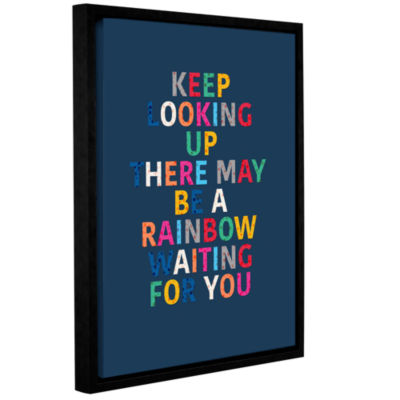 Brushstone Rainbow Waiting For You Gallery WrappedFloater-Framed Canvas