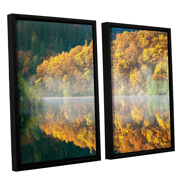 Brushstone Autumn Fog 2-pc. Floater Framed CanvasSet