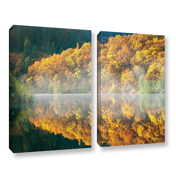 Brushstone Autumn Fog 2-pc. Gallery Wrapped CanvasSet