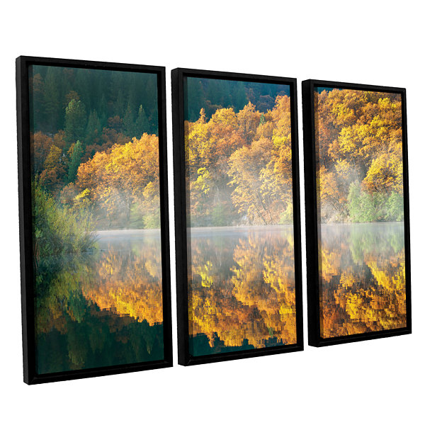 Brushstone Autumn Fog 3-pc. Floater Framed CanvasSet