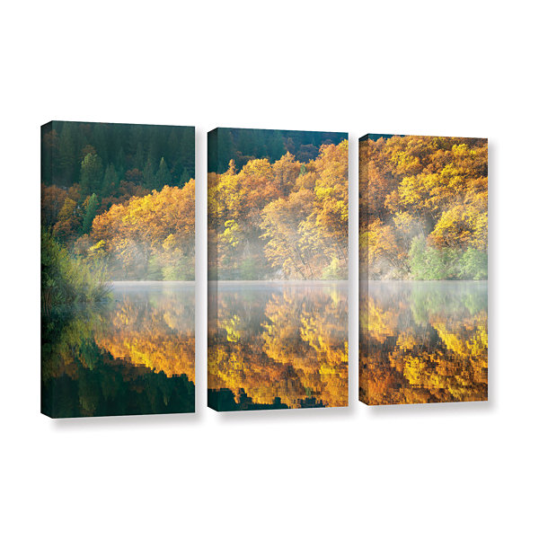 Brushstone Autumn Fog 3-pc. Gallery Wrapped CanvasSet