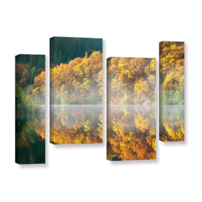 Brushstone Autumn Fog 4-pc. Gallery Wrapped CanvasStaggered Set