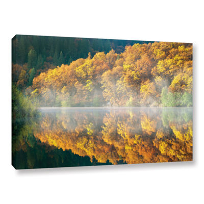 Brushstone Autumn Fog Gallery Wrapped Canvas