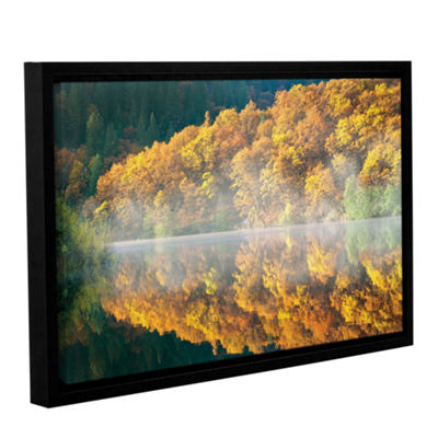 Brushstone Autumn Fog Gallery Wrapped Floater-Framed Canvas