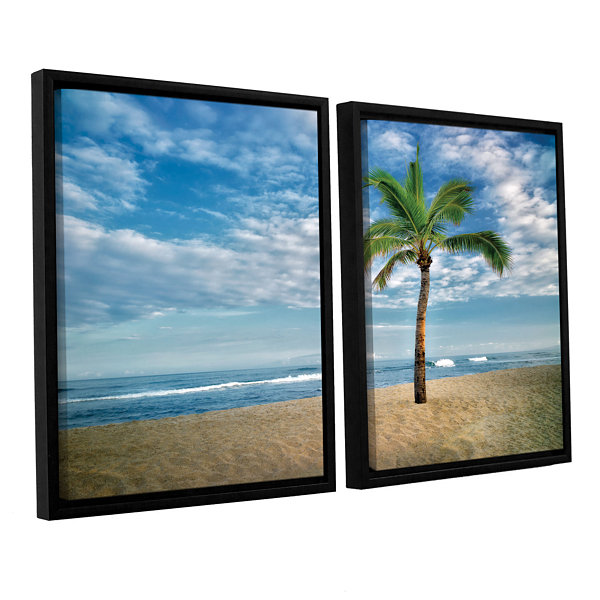 Brushstone Blue and Green 2-pc. Floater Framed Canvas Set