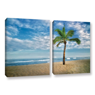 Brushstone Blue and Green 2-pc. Gallery Wrapped Canvas Set