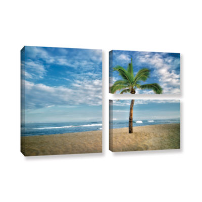 Brushstone Blue and Green 3-pc. Gallery Wrapped Canvas Flag Set