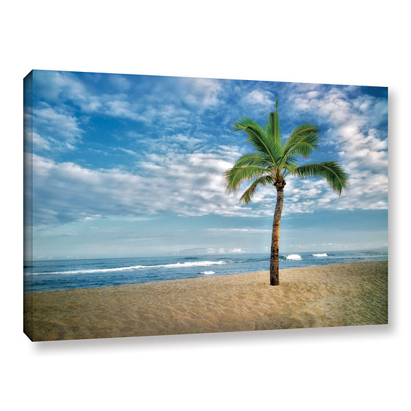 Brushstone Blue and Green Gallery Wrapped Canvas