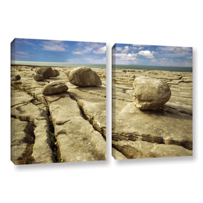 Brushstone Boulders 2-pc. Gallery Wrapped Canvas Set