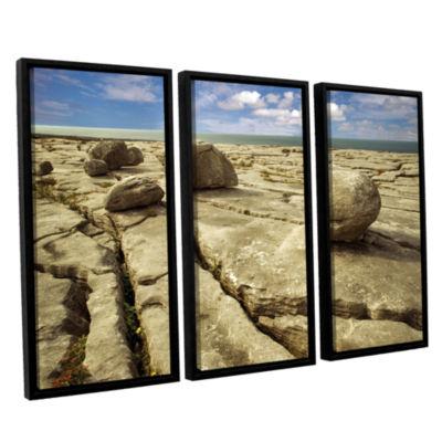 Brushstone Boulders 3-pc. Floater Framed Canvas Set
