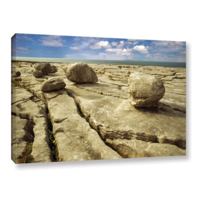 Brushstone Boulders Gallery Wrapped Canvas