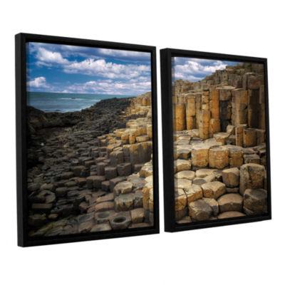 Brushstone Brick Beach 2-pc. Floater Framed CanvasSet