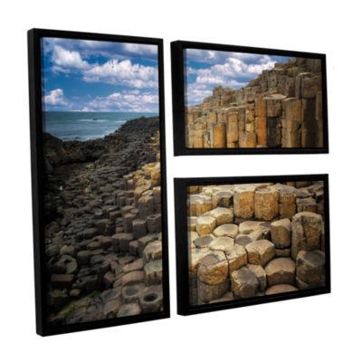 Brushstone Brick Beach 3-pc. Floater Framed CanvasFlag Set