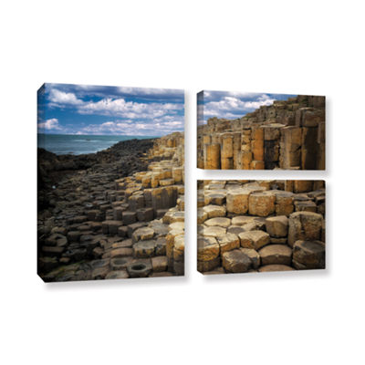 Brushstone Brick Beach 3-pc. Gallery Wrapped Canvas Flag Set