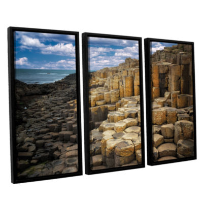 Brushstone Brick Beach 3-pc. Floater Framed CanvasSet