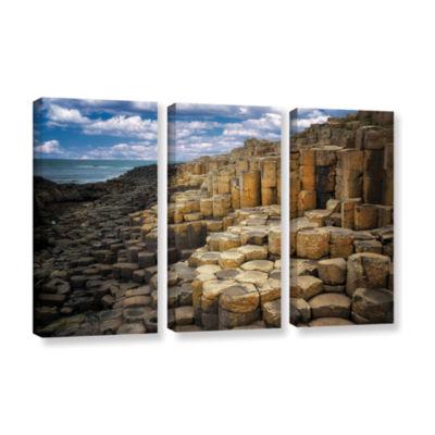 Brushstone Brick Beach 3-pc. Gallery Wrapped Canvas Set