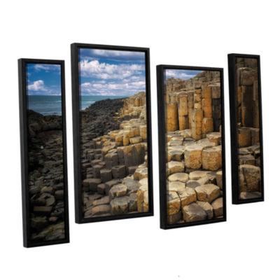 Brushstone Brick Beach 4-pc. Floater Framed CanvasStaggered Set