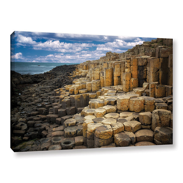 Brushstone Brick Beach Gallery Wrapped Canvas