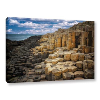 Brushstone Brick Beach Gallery Wrapped Canvas