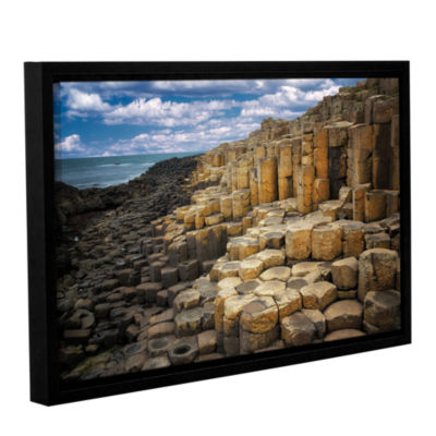 Brushstone Brick Beach Gallery Wrapped Floater-Framed Canvas