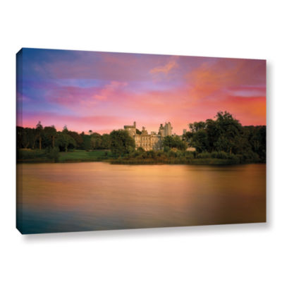 Brushstone Castle At Dusk Gallery Wrapped Canvas