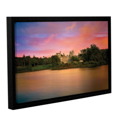 Brushstone Castle At Dusk Gallery Wrapped Floater-Framed Canvas
