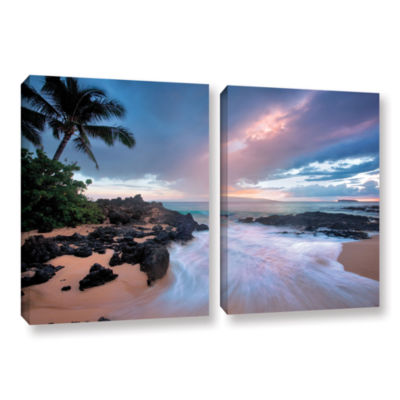 Brushstone Cool Breeze 2-pc. Gallery Wrapped Canvas Set
