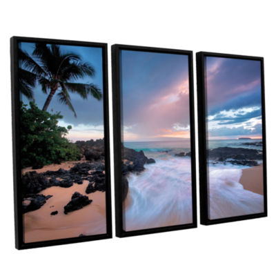 Brushstone Cool Breeze 3-pc. Floater Framed CanvasSet