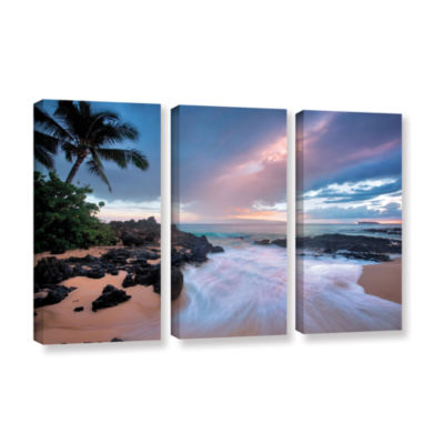 Brushstone Cool Breeze 3-pc. Gallery Wrapped Canvas Set