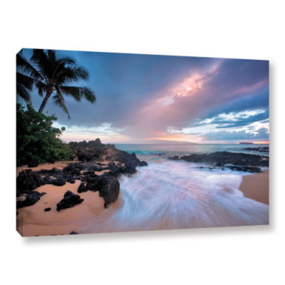 Brushstone Cool Breeze Gallery Wrapped Canvas