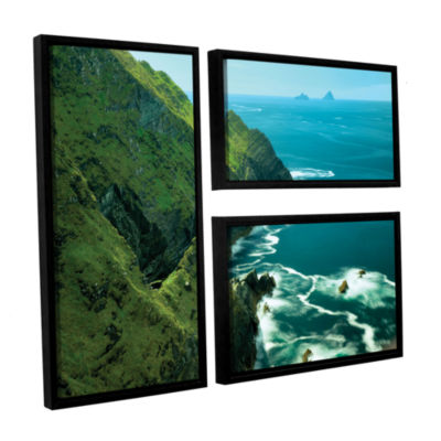 Brushstone Emerald Coast 3-pc. Floater Framed Canvas Flag Set