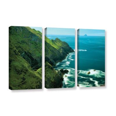 Brushstone Emerald Coast 3-pc. Gallery Wrapped Canvas Set