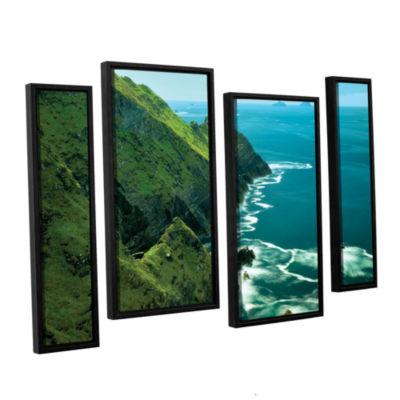 Brushstone Emerald Coast 4-pc. Floater Framed Canvas Staggered Set