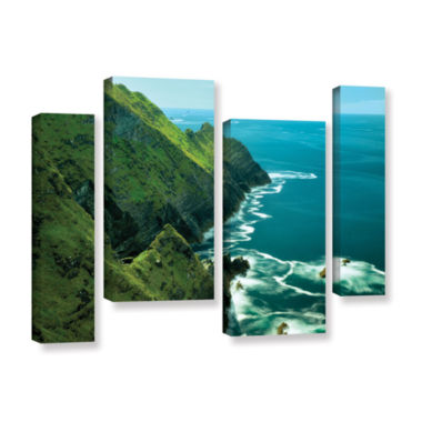 Brushstone Emerald Coast 4-pc. Gallery Wrapped Canvas Staggered Set