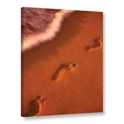 Brushstone Footprints Gallery Wrapped Canvas