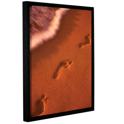 Brushstone Footprints Gallery Wrapped Floater-Framed Canvas Wall Art