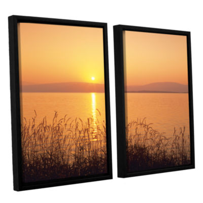 Brushstone Golden Pond 2-pc. Floater Framed CanvasSet