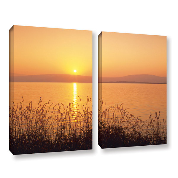 Brushstone Golden Pond 2-pc. Gallery Wrapped Canvas Set