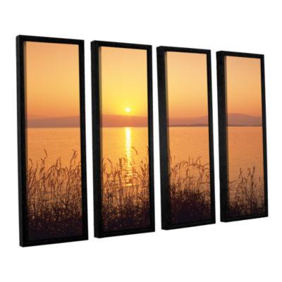 Brushstone Golden Pond 4-pc. Floater Framed CanvasSet