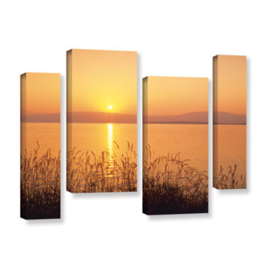 Brushstone Golden Pond 4-pc. Gallery Wrapped Canvas Staggered Set