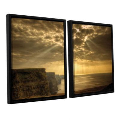 Brushstone Heavenly 2-pc. Floater Framed Canvas Set