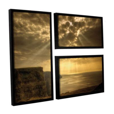 Brushstone Heavenly 3-pc. Floater Framed Canvas Flag Set