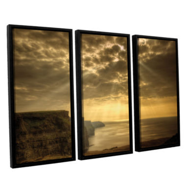 Brushstone Heavenly 3-pc. Floater Framed Canvas Set